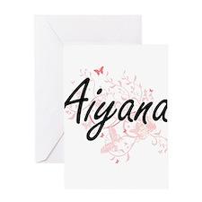 Aiyana Artistic Name Design with Bu Greeting Cards