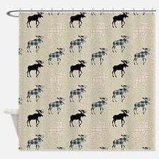 Moose Pattern Shower Curtain