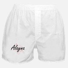 Alayna Artistic Name Design with Butt Boxer Shorts