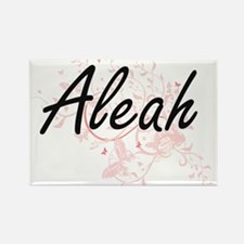 Aleah Artistic Name Design with Butterflie Magnets