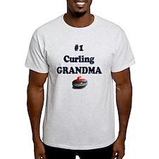 #1 Curling Grandma T-Shirt