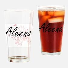 Aleena Artistic Name Design with Bu Drinking Glass