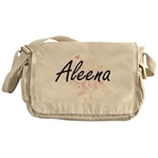 Aleena Artistic Name Design with But Messenger Bag