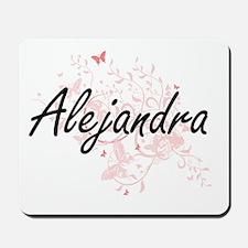 Alejandra Artistic Name Design with Butt Mousepad
