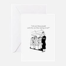 Funny Flight attendant Greeting Cards (Pk of 10)