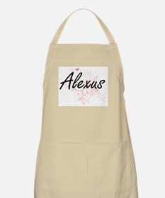 Alexus Artistic Name Design with Butterflies Apron