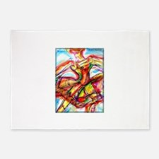 Abstract dancer! Colorful art! 5'x7'Area Rug