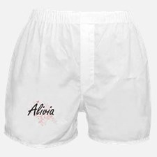 Alivia Artistic Name Design with Butt Boxer Shorts