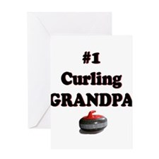 #1 Curling Grandpa Greeting Card