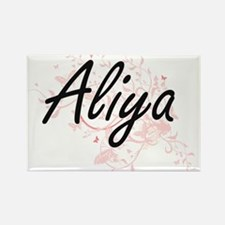 Aliya Artistic Name Design with Butterflie Magnets
