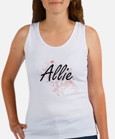 Allie Artistic Name Design with Butterfli Tank Top