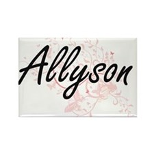 Allyson Artistic Name Design with Butterfl Magnets