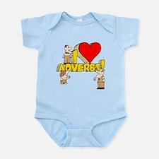 I Heart Adverbs Infant Bodysuit