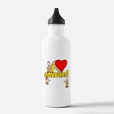 I Heart Adverbs Sports Water Bottle