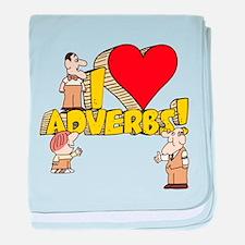 I Heart Adverbs Infant Blanket