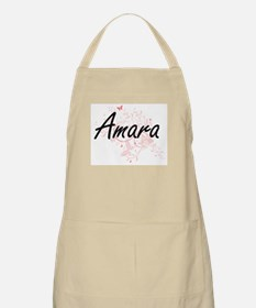 Amara Artistic Name Design with Butterflies Apron