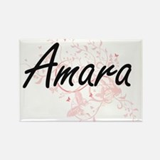 Amara Artistic Name Design with Butterflie Magnets