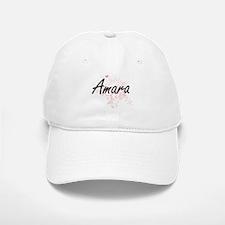 Amara Artistic Name Design with Butterflies Baseball Baseball Cap