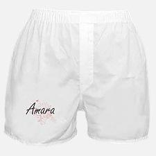 Amara Artistic Name Design with Butte Boxer Shorts