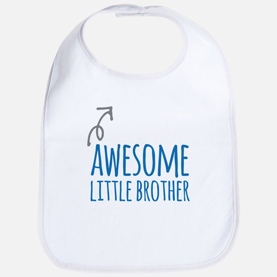 Awesome Little Brother Bib