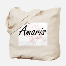 Amaris Artistic Name Design with Butterfl Tote Bag