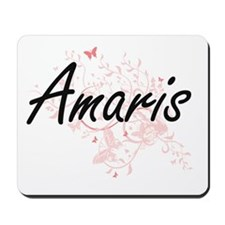 Amaris Artistic Name Design with Butterf Mousepad