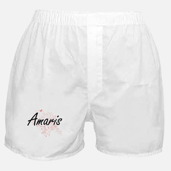 Amaris Artistic Name Design with Butt Boxer Shorts