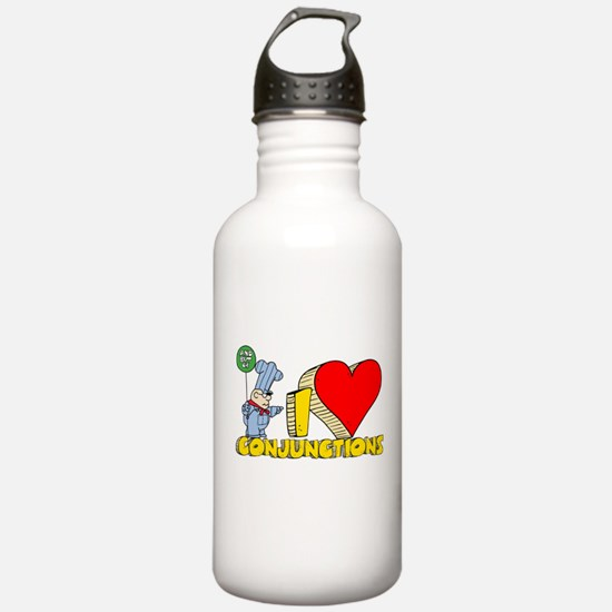 I Heart Conjunctions Sports Water Bottle