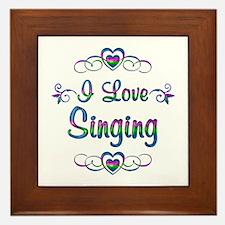 I Love Singing Framed Tile