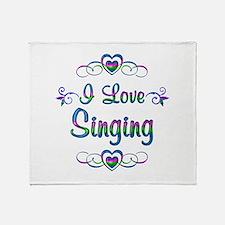 I Love Singing Throw Blanket