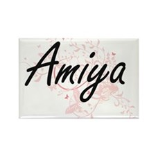 Amiya Artistic Name Design with Butterflie Magnets