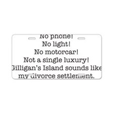 Cute Gilligans island Aluminum License Plate