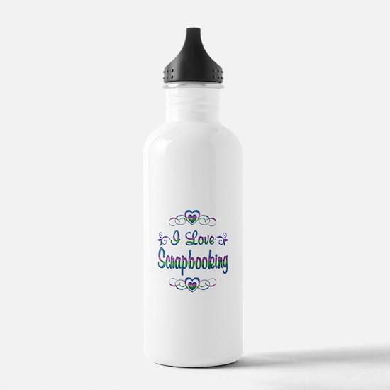 I Love Scrapbooking Water Bottle