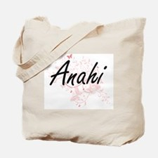 Anahi Artistic Name Design with Butterfli Tote Bag