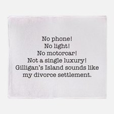 No Phone ... Throw Blanket