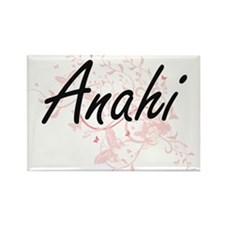 Anahi Artistic Name Design with Butterflie Magnets