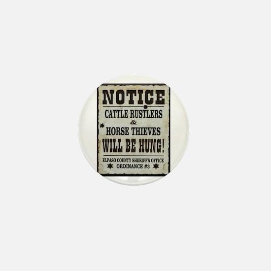 El Paso Sheriff Warning Mini Button