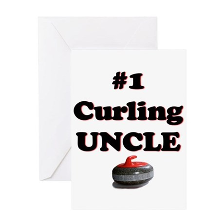 #1 Curling Uncle Greeting Card
