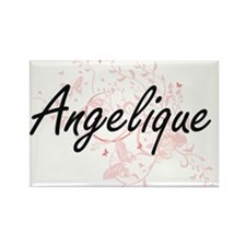 Angelique Artistic Name Design with Butter Magnets