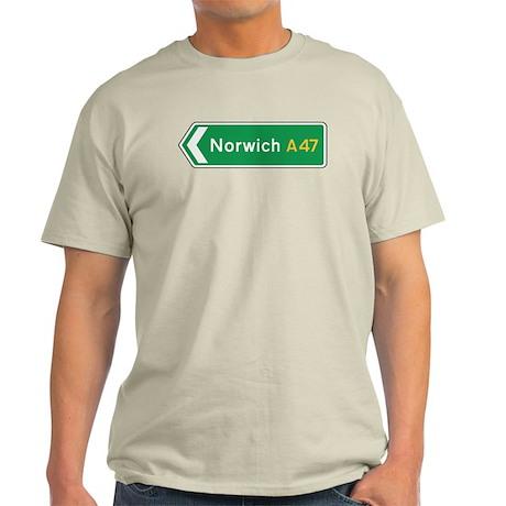 Norwich Roadmarker, UK Light T-Shirt