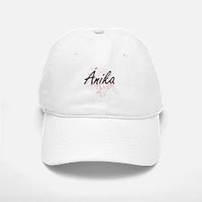 Anika Artistic Name Design with Butterflies Baseball Baseball Cap