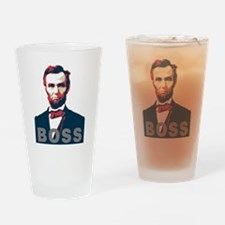 Funny Lincoln Drinking Glass
