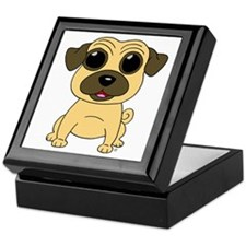 Fawn Pug Keepsake Box