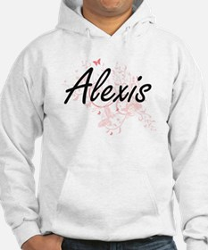 Alexis Artistic Name Design with Hoodie Sweatshirt