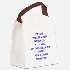 embarrassed Canvas Lunch Bag