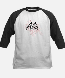 Alia Artistic Name Design with But Baseball Jersey