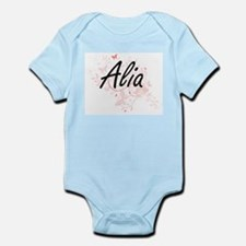 Alia Artistic Name Design with Butterfli Body Suit