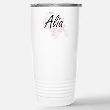 Alia Artistic Name Desi Travel Mug