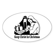 Keep Christ in Christmas Oval Decal