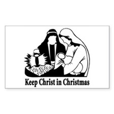 Keep Christ in Christmas Rectangle Decal